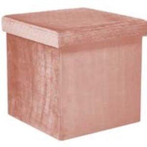 Billede af æske i rosa velour