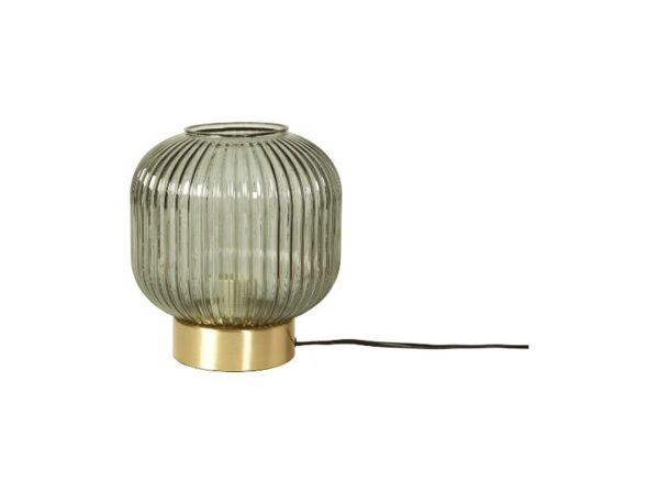 141711 bordlampe med gråt glas