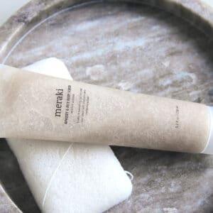 Abrikos og ris bodyscrub miljøbillede