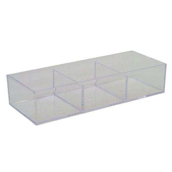 Akryl boks med 3 rum