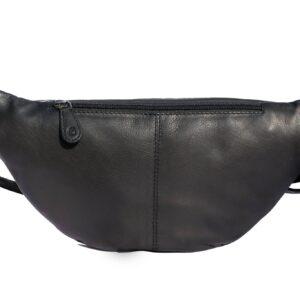 Bæltetaske i sort bagpå