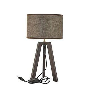 Bordlampe pace med mørk brun lampeskærm