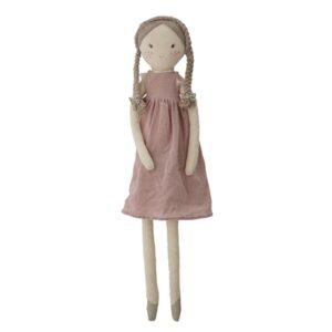Dukke i lyserød kjole shopbillede