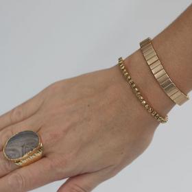 Gladis armbånd i elastik i guld
