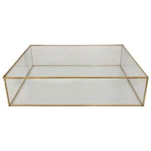 Glasskrin i guld 40x28x10