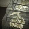 Glasskrin i sort metal miljøbillede