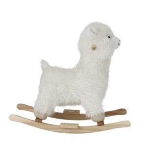 Gyngehest, Lama i hvid fra siden miljøbillede