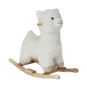 Gyngehest, lama i hvid shopbillede