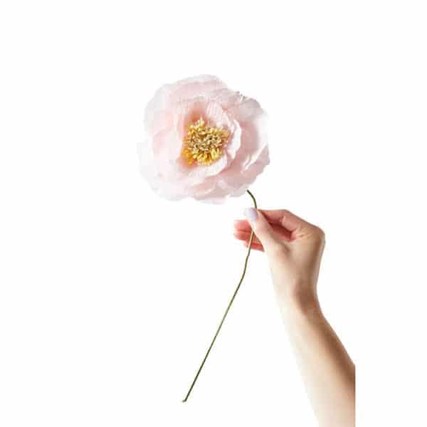Ice Poppy Rose papirsblomst Valmue Rose