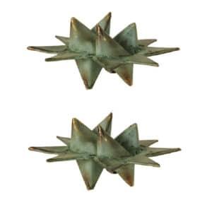 Julestjerner i grøn metal