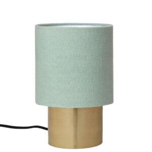 Lampe med mint skærm