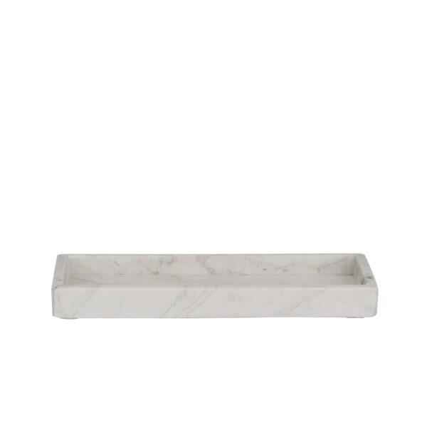 Bakke i marmor hvid