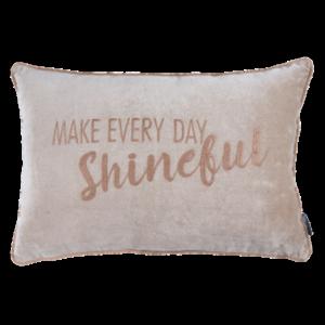 Billede af pude med citat make every day shineful