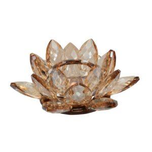 MB Lotus crystal fyrfadsstage-Amber
