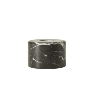 Marmor sort lysestage shopbillede