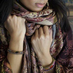 Miljøbillede BD107 perle armbånd Nepal