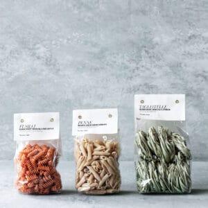 Miljøbillede af forskellige pastatyper