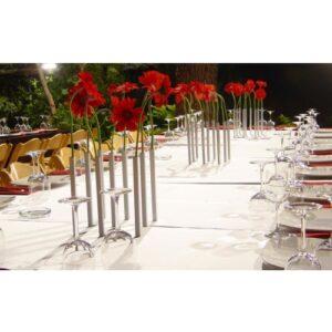 Miljøbillede af magnetiske vaser i sølv