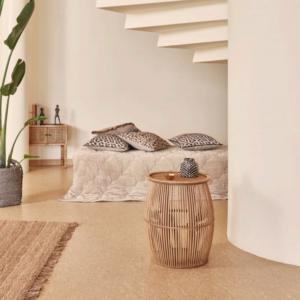 Miljøbillede sengetæppe 260x260 cm. concrete