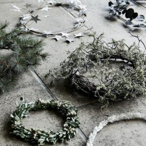 Miljøbillede krans med moss