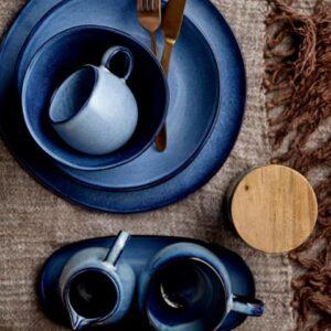 Miljøbillede krus Sandrine blå stentøj