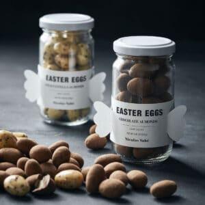 Miljøbillede påskeæg dusted covered almonds