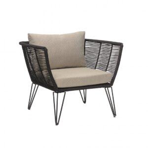Mundo lounge stol fra siden i sort