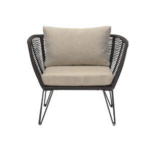 Mundo lounge stol i sort shopbillede