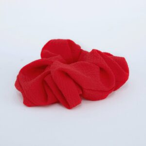 Plain rød scrunchie