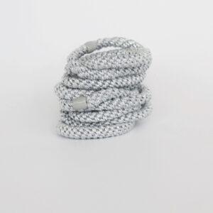Pony elastik i sølv-123