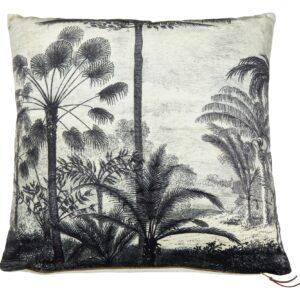 Pude med palmer i sort