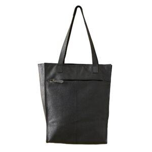 Shopbillede af shopper i sort læder