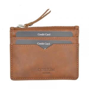 Shopbillede kortholder og møntrum i cognac