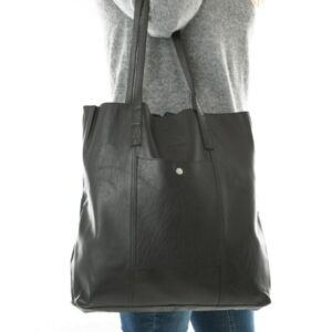 Shopbillede shopper i sort skind