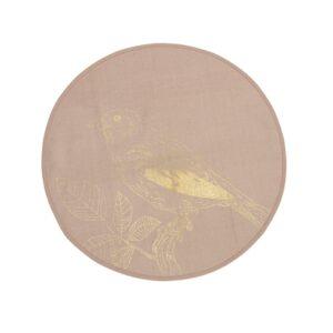 Shopbillede tæppe med fugl i guld