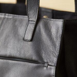close up af shopper i sort