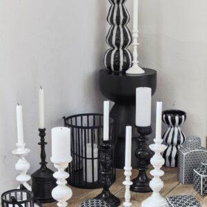 miljøbilleder af sorte lysestager