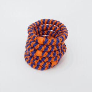 pony elastik orange stripe