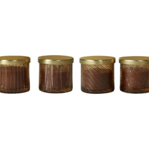 shopbillede af duftlys i brun glas 4 stk.