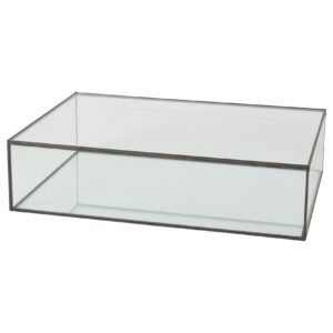 sort finish glas skrin 40x28x10 cm.